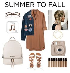 """""""Summer to fall"""" by paraskevi1911 on Polyvore featuring United by Blue, Chicnova Fashion, Billabong, MICHAEL Michael Kors, Wildfox and Fujifilm"""