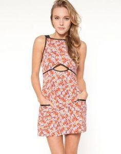 Shakuhachi, Floral Ponti Apron Dress