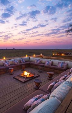 Shumba Camp - a truly wild, out-of-the-way destination that's more than worth the trip. Outdoor Seating, Outdoor Rooms, Outdoor Living, Outdoor Showers, Dream Home Design, House Design, Casa Top, Modern Bungalow House, Outdoor Fireplace Designs