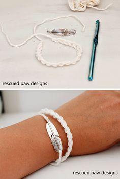 Crochet Bracelet Pattern - Rescued Paw Designs