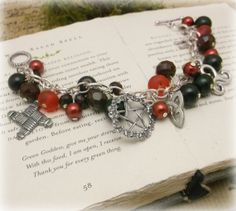 Brigids Song Goddess charm braceletGemsones by Spellboundoriginals, $17.99