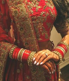 bangles, nails, and punjabi bride image