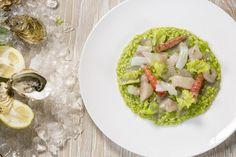 #Riso alla #lattuga e #limone, #salsa di #ostrica con #crudo #mare by @Enrico_Panero ispirato da #listaspesa Leonardo
