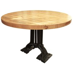 100+ Round butcher Block Table - Cool Rustic Furniture Check more at http://livelylighting.com/round-butcher-block-table/