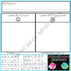Letters In Name Sort + Letter Tiles product from LittleLiteracyLearners on TeachersNotebook.com