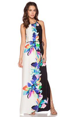 Amanda Uprichard Perry Maxi Dress in Bali Flower Print   REVOLVE