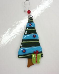 Fused Glass Christmas Tree Ornament