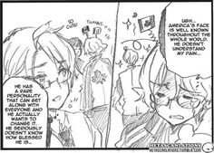 Can we just talk about this for a minute. This is from chapter 177 of the Hetalia manga and this shows how kinda jealous Canada and America are of each others personalities! I think this proves many head cannons so SEND IT FORWARD