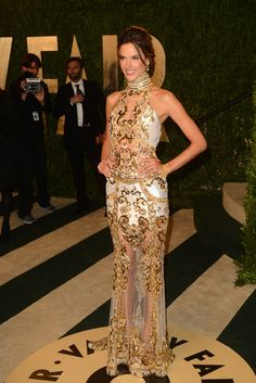 Alessandra Ambrosio at Vanity Fair's Oscars After Party [Photo by Tyler Boye]