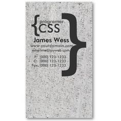 Web Designer CSS Programmer Computer Developer Business Card Template by 911business. Winter colors on the modern business card.