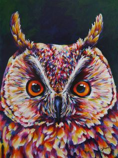 Great Horned Owl Acrylic Painting by claudelle on Etsy Painting Inspiration, Art Inspo, Great Horned Owl, Owl Art, Painting & Drawing, Finger Painting, Diy Painting, Amazing Art, Art Projects