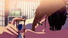 Kimi no na Wa gif Kimi No Na Wa, Anime Gifs, Sad Anime, Manga Anime, Desu Desu, Tsurezure Children, The Garden Of Words, Your Name Anime, Image Manga