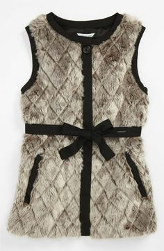LITTLE MARC JACOBS Faux Fur Vest (Big Girls) | Nordstrom