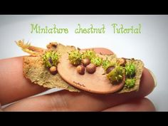 Miniature polymer clay chestnut - YouTube