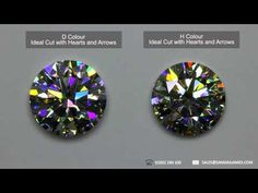 ▶ How diamond colour affects the fire and sparkle of a diamond - YouTube