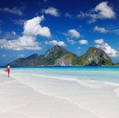 Filippiineiltä löytyy ihania valkohiekkaisia rantoja.