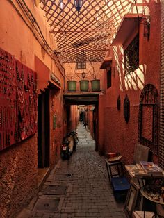 ITAP of a alley in Marrakech Morocco. Visit Morocco, Marrakech Morocco, Morocco Travel, Marrakech Travel, Places To Travel, Places To Go, Travel Destinations, Morocco Honeymoon, Travel Aesthetic