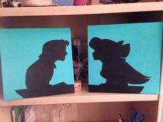 Little Mermaid Eric and Ariel Silhouette by PattiArtandPaintings