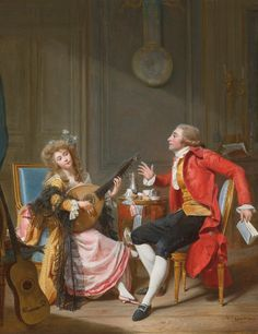 Marie Antoinette's Gossip Guide to the 18th Century: Young girl listening to a conversation between two lovers