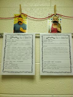I Mustache You A Question! - Target those Common Core Research Writing Standards with this fun, easy to follow student template. It also includes a super cute bulletin board idea! Doing this! Classroom Bulletin Boards, Classroom Ideas, Student Teaching, Teaching Kids, Third Grade Reading, Second Grade, Writing Activities, Writing Ideas