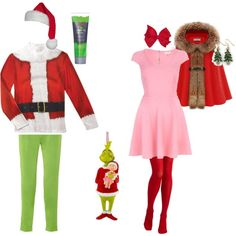 """the grinch and cindy loo hoo"" for tacky xmas! can't wait!"