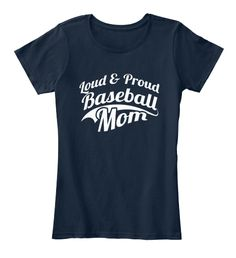 Baseball Mom Shirts 165 New Navy T-Shirt Front