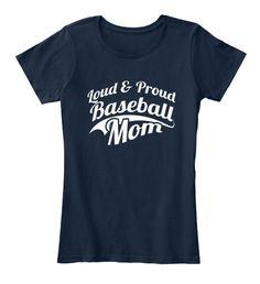 Baseball Mom Shirts 165 New Navy T-Shirt Front