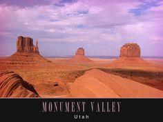 Postcard of Monument Valley, Utah