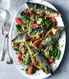 Grilled-mackerel-salad