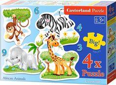 Puzzle Castorland Progresivo 3+4+6+9 Animales Africanos