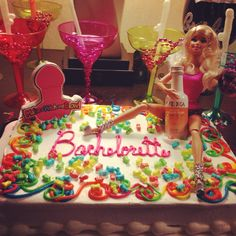 Bachelorette party cake! I made this for my sisters!