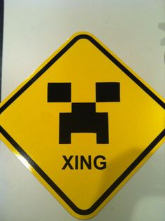 Minecraft Creeper Xing Street Sign by TheMysticMagicks on Etsy, $20.00