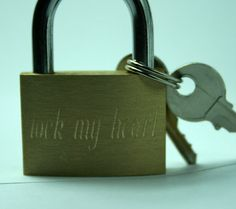 personalized Lock Brass with custom writing by ecesema on Etsy, $24.00