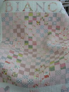 adorable baby quilt - so simple!