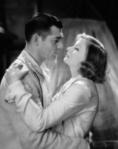 Greta Garbo and Clark Gable