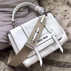 71ce64d6d31 Miu Miu Grace Lux Leather Shoulder Bag 5BD078 White 2018  MiuMiu. Fashion  Designers
