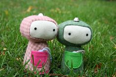 these guys are so cute! tutorial for robot softies!