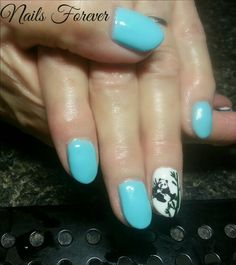 Aqua Panda Nails - Gel Nails 2014 Nails Forever