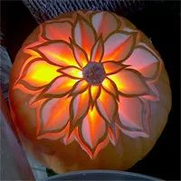 Floral Pumpkin Carving by Chef Ray Duey