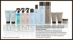 DE LORENZO inspired by nature - NEW! ELEMENTS STYLING RANGE