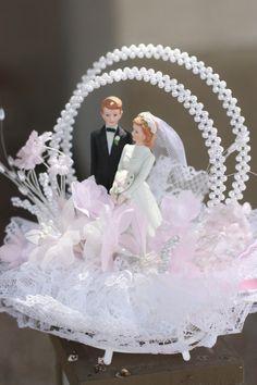 Vintage wedding cake topper 1980s