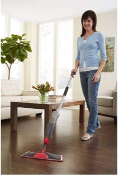 (This is an affiliate pin) Rubbermaid 1892663 Reveal Spray Mop