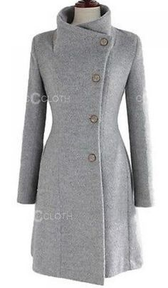 HKJIEVSHOP Vintage Party Ladies Upright Collar Belted Coat Jacket From Amazon. Find out if this an have a hood on it.