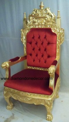 Baroque Heavily Carved Louis XVI French Reproduction Throne Chair
