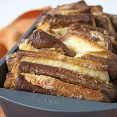 marbled pull apart bread with orange sugar filling