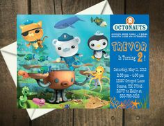 Octonauts Birthday Party Invitation by MyPerfectPartyStudio, $5.00