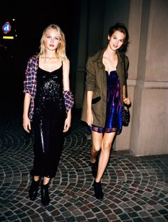 Glam with a grunge twist.  First Look: Urban Outfitters Holiday 2013 – Photography by Angelo Pennetta