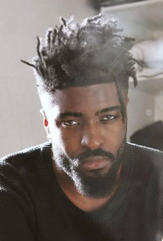 55 Awesome Hairstyles for Black Men Black Men Haircuts, Black Men Hairstyles, Hairstyles Haircuts, Cool Hairstyles, Dreadlock Hairstyles For Men, Dreadlock Styles, Dreads Styles, Mens Facial, Facial Hair