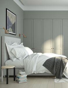 Ikea Wardrobe Storage, Ikea Pax Wardrobe, Ikea Storage, Bedroom Wardrobe, Bedroom Storage, Storage Headboard, Pax Closet, Wardrobe Handles, Houses