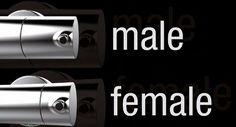 Cruxelles heeft het onderscheid gemaakt tussen de Male en Female kranen in haar 4000-serie kranen.  www.cruxelles.com